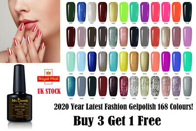 Colour Gel Ms Queen 10ml Gel Nail Polish No Wipe Top Base Coat High Quality UK