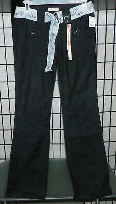 Be Bop Blue Pants w/Belt Womens Juniors NWT Size 1