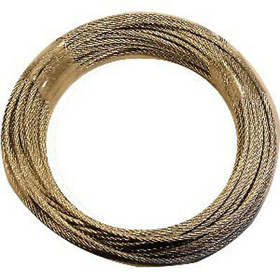 GALVANIZED WIRE FOR LONGCASE GRANDFATHER CLOCK 1.5MM 21 feet. 6.4 metres long.