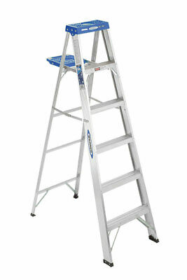Werner 5 Ft. H X 20 In. W Aluminum Step Ladder Type I 250 Lb. Capacity