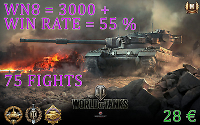 World of Tanks 3000+ wn8 55%+ / 75 fights / TOP Boost WOT / Fast and Save