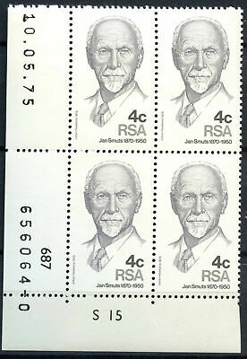 South Africa 1975 SG#378 Jan Smuts MNH Block #E9310