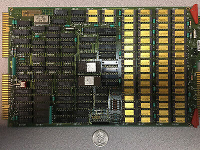 Memory board gold capped ic m5k4164ns vintage 1978 HP A600 gold scrap recovery