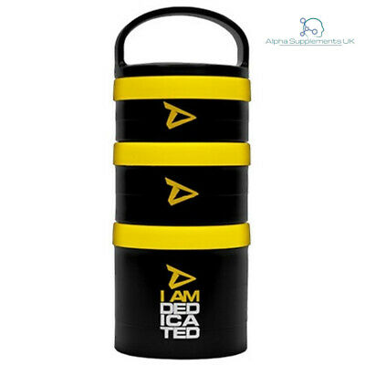 I AM Dedicated Nutrition Protein Supplement Food Snack Storage Container Boxes