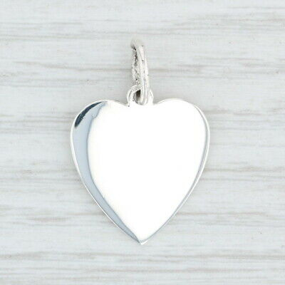 Tiffany & Co Engravable Heart Pendant - Sterling Silver ID Tag Charm Designer