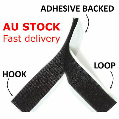16/25/38/50/100mm Self-Adhesive Hook and Loop Fastening Tape Black White Sticky