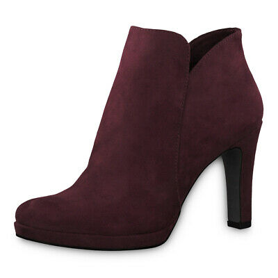 TAMARIS LADIES ANKLE Boots Shoes 25316 Boots Vine (Wine Red