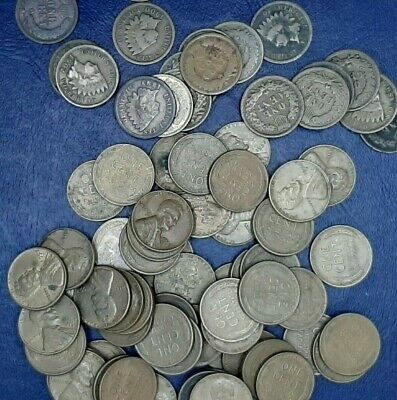 Wheat Penny Rolls With 3 Indian Heads,Ea Roll Steel, Teens And 20S Guaranteed!