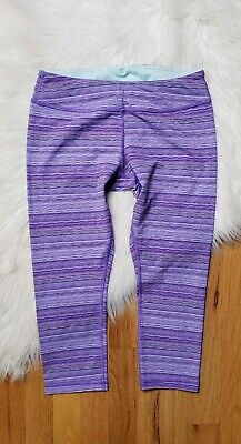 Ivivva By Lululemon Size 14 Girls Capri Leggings Purple Blend