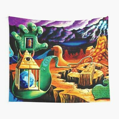 Trippy Psychedelic Visionary Surreal Psy Art Wall Tapestry, Psychedelic Tapestry