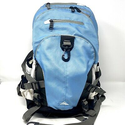 High Sierra blue & gray Loop Backpack 5 Zippered Compartments W/Laptop Sleeve