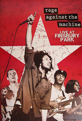"Rage Against The Machine ""Live At Finsbury Park""Uk Concert Tour Poster From Asia"