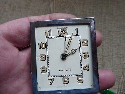 JAEGER-LECOULTRE  ANTIQUE  8 day TRAVEL CLOCK WORKING