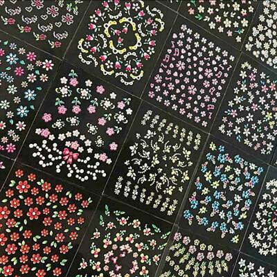 50 Sheets 3D Nail Art Transfer Stickers Flower Decals Manicure Decoration, 2020n