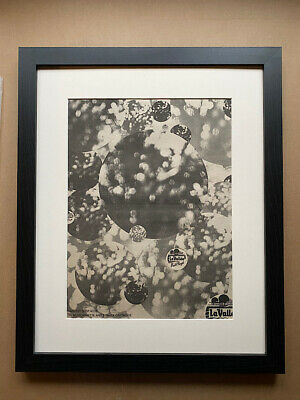 PINK FLOYD OBSCURED BY CLOUDS(FRAMED) POSTER SIZED original music press advert f