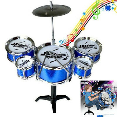 Jazz Drum Pwith 5 Drums layset Percussion Musical Instrument Gifts for Kids n SF