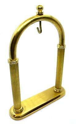 Solid Brass Pocket Watch Stand Arched Holder Display Gold colour