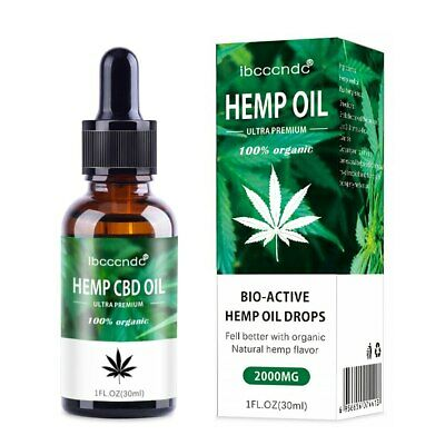 Hemp Seeds Oil Extract Drop for Pain Relief Reduce Anxiety Better Sleep Essence