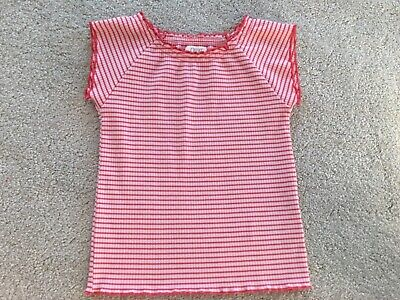 Little Girls Striped Red And Pink Top - Age 4 - Next - Worn Excellent Condition