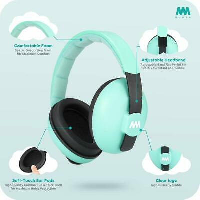 Mumba Baby Earmuffs Noise Cancelling Hearing Protection New TEAL 3 Months & Up