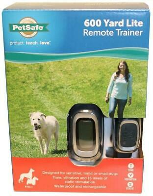 PetSafe 600 Yard Lite Rechargeable Remote Trainer For Dogs 8 lbs+