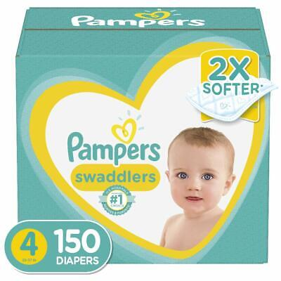 Diapers Size 4, 150 Count - Pampers Swaddlers Disposable Baby Diapers, ONE MONTH