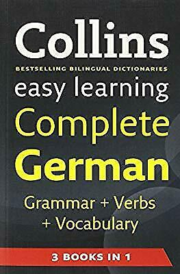 Easy Learning Complete German Grammar, Verbs and Vocabulary (3 books in 1) (Coll