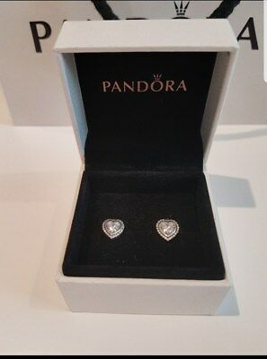 SALE 💖 Pandora Sparkling Heart Earrings