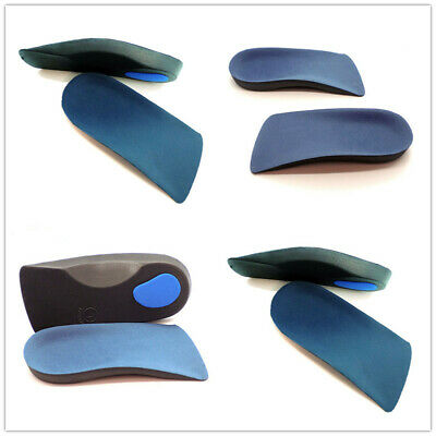 UK For Plantar Fasciitis Fallen Arches Feet Insoles 3/4 Orthotic Arch Support