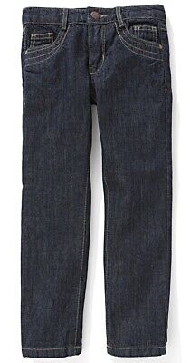 La Redoute Girl's Embroidered 5-Pocket Jeans, Dark Blue