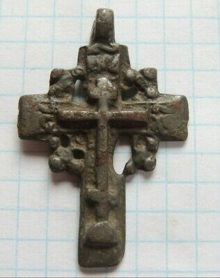 Ancient bronze cross 17-18 century