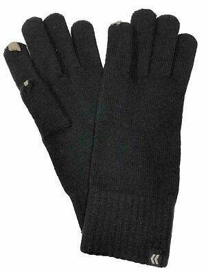 Isotoner Smart Touch Womens Black Knit Touchscreen Text Gloves Smartouch