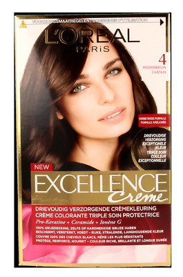 L'Oreal Haarverf Excellence Creme - 4 Middenbruin
