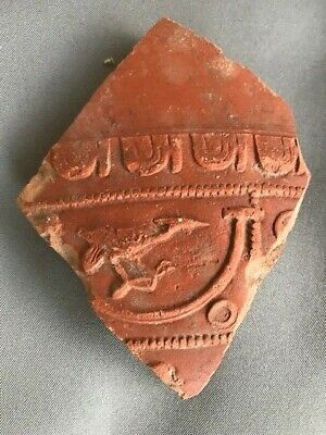 Ancient Roman Arretine Pottery Fragment with Bird (1st Cent.)
