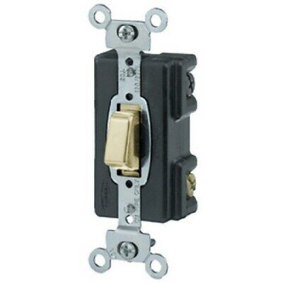 Hubbell HBL 12881 Push Button Lighted 3-Way  Switch
