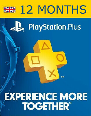 12 MONTHS PlayStation PS Plus Membership Subscription *PROMOTION* NO CODE