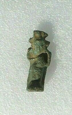 Nice Egyptian God Ancient Faience Amulet 1648 to 1455 BC Egypt Old Kingdom