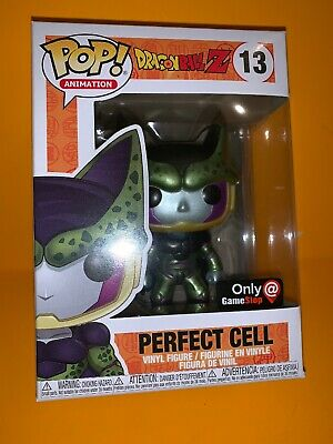 Funko Pop! Dragon Ball Z Metallic Perfect Cell  #13 Gamestop Exclusive *IN HAND*