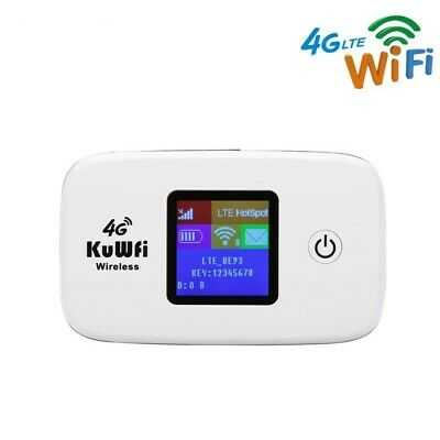4G LTE LCD WIFI Wireless Router Mobile Modem 150Mbps Hotspot Sim Card  Portable