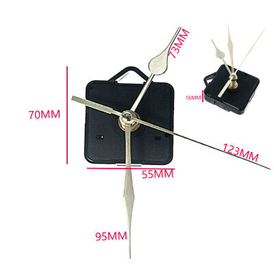 1pc Replacement Quartz Clock Movement Mechanism Motor & Metal Hands & Fittings
