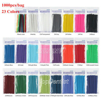 1000pcs Dental Orthodontic Elastic Ligature Ties Bands for Brackets 23 Colors