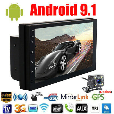 """Android 9.1 Universal 2 Din 7"""" Car MP5 Player Stereo Radio GPS Wifi Touch Screen"""