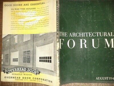 Vintage August 1942 Architectural Forum Home Buildings Modern Designs History