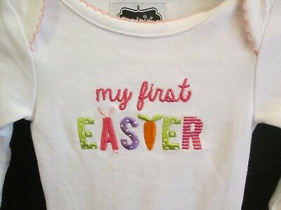 """Mud Pie """"My First Easter"""" Long Sleeve Crawler, Size 0-6 Months, NWT"""