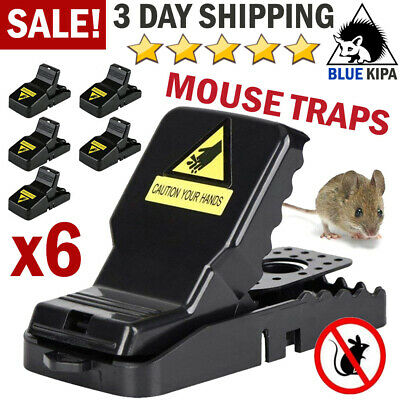 6x Mouse Snap Traps Rat Mice Squirrel Instant Kill Trap Rodent Reusable Catcher