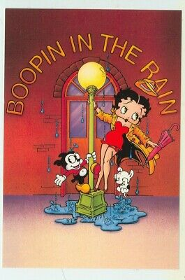 BETTY BOOP-A BOOP AND HER PUPPY-POSTCARD-COMIC- BB68*