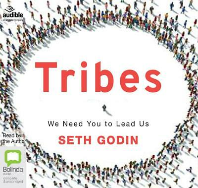 Tribes: We Need You to Lead Us by Seth Godin Compact Disc Book Free Shipping!