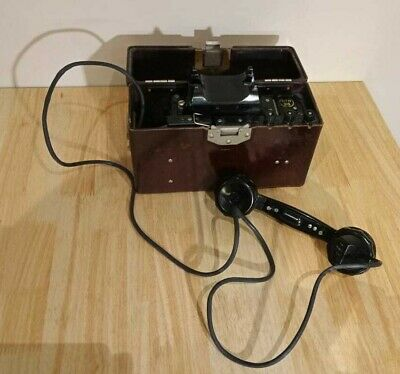 TAI-43 WORKING! original USSR army field telephone