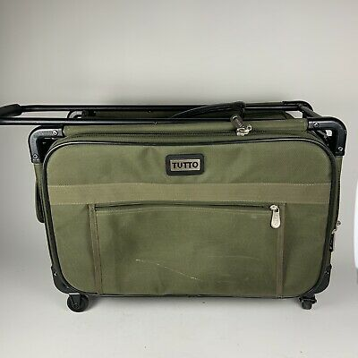 Tutto Green Sewing Embroidery Machine Trolley Case On Wheels 20 Inch Luggage