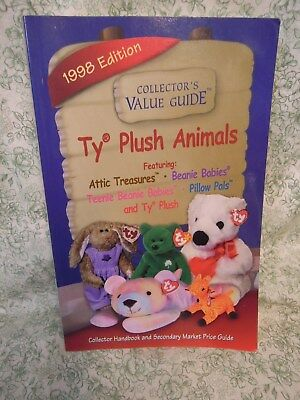 """mb-122 TY Beanie Babies bk: """"Collector's Value Guide; TY Plush Animals"""" 1988"""